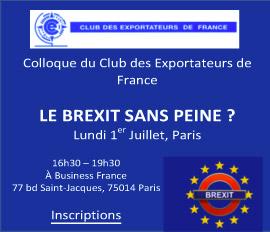 Colloque Le Brexit sans peine 01/07