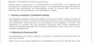ALGERIE : La fin du FOB obligatoire